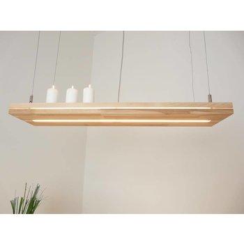"""Lampe suspendue """"Sandwich"""" en bois de hêtre ~ 80 cm"""