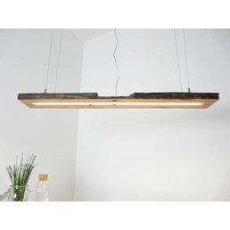 Lampe LED suspension bois poutres anciennes ~ 120 cm