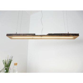 Lampe LED suspension bois poutres anciennes