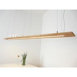 XXL hanging lamp wood, oiled oak ~ 196 cm