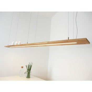 XXL Hängelampe Holz Eiche geölt ~ 196 cm