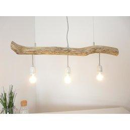 Hängeleuchte Treibholz Esstischlampe 3 flg. ~ 85 cm