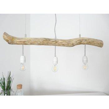 Lampe suspendue en bois flotté lampe de table à manger 3 flg. ~ 85 cm