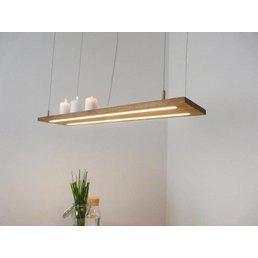 Lampe à suspension lampe bois chêne huilé ~ 80 cm