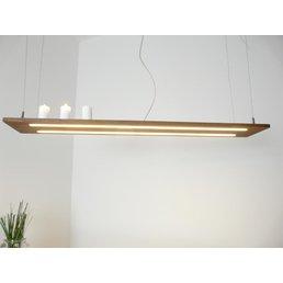 Hängelampe Leuchte Holz Akazie ~ 120 cm