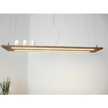 Lampe à suspension bois clair acacia ~ 120 cm
