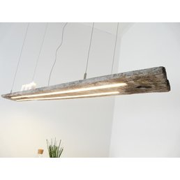 rustikale LED Hängeleuchte antik Balken ~159 cm