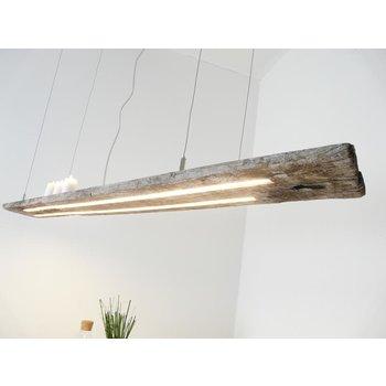 Lampe LED suspension poutre antique
