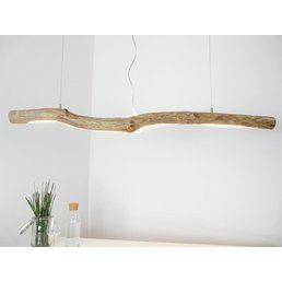 LED driftwood lamp Driftwood lamp Hanging lamp with upper and lower light ~ 143 cm