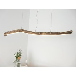 Lampe à suspension LED en bois flotté ~ 113 cm