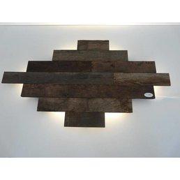 Applique LED en bois antique ~ 100 cm