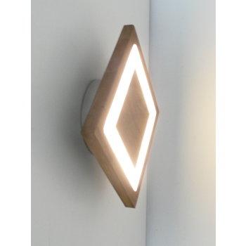 small wall lamp wood acacia ~ 20 x 20 cm