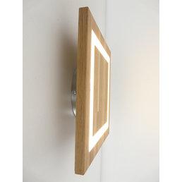 Applique en bois de chêne huilé ~ 30 cm x 30 cm