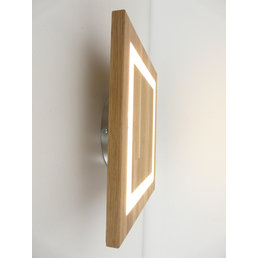 Wall lamp wood oak oiled ~ 30 cm x 30 cm