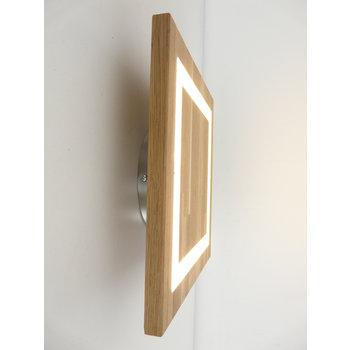 Wandleuchte Holz Eiche geölt ~ 30 cm x 30 cm