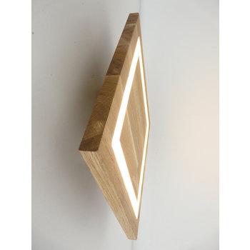 Wall lamp wood oiled oak ~ 39 cm x 39 cm