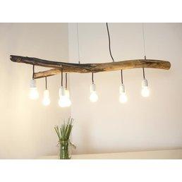 Hanging lamp driftwood dining table lamp 7 flg. ~ 118 cm