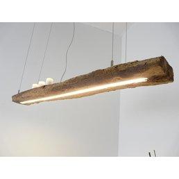 lampe à suspension rustique faite de poutres anciennes ~ 120 cm