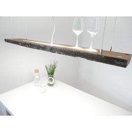 Hanging lamp wood antique beams used look ~ 121 cm
