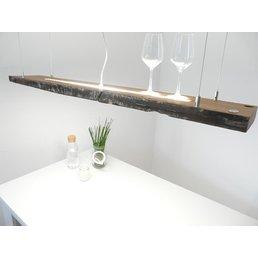 Lampe suspendue en bois avec poutres anciennes utilisée ~ 121 cm