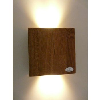 Wall light wood oiled oak