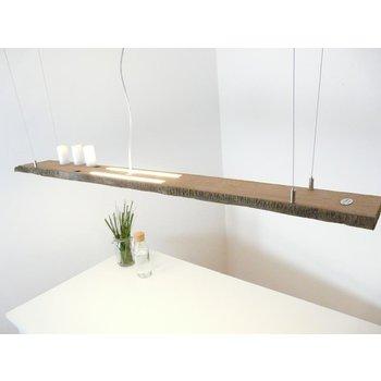 lampe à suspension rustique faite de poutres anciennes ~ 168 cm