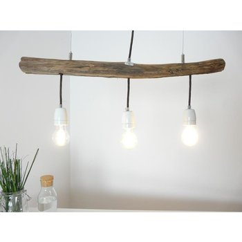 Hanging lamp driftwood dining table lamp 3 flg. ~ 71 cm