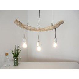 Hanging lamp driftwood dining table lamp 3 flg. ~ 65 cm
