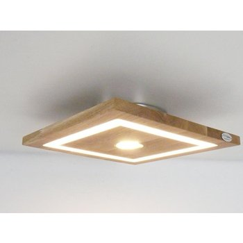 small ceiling lamp wood oak oiled ~ 20 x 20 cm
