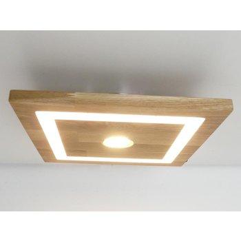 Plafonnier bois chêne huilé ~ 30 cm x 30 cm