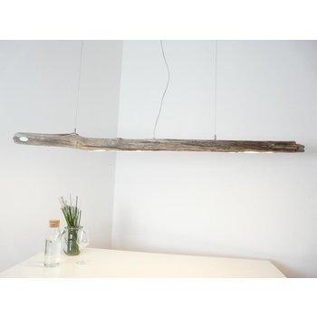 Plafonnier Suspension en bois flotté en bois clair ~ 172 cm