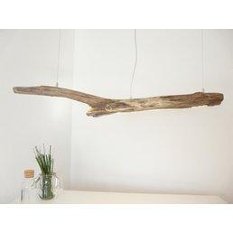 Lampe LED en bois flotté Lampe suspendue en bois flotté ~ 131 cm