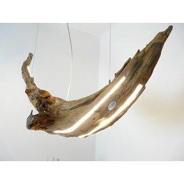 XXL Led hanging lamp burl wood ~ 150 cm