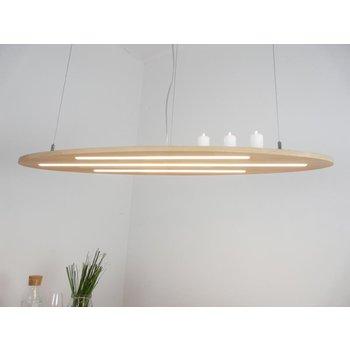 """NOUVEAU! Lampe suspendue """"Ellipse"""" lampe hêtre ~ 120 cm"""