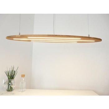 """NOUVEAU! Lampe suspendue """"Ellipse"""" chêne clair huilé ~ 120 cm"""