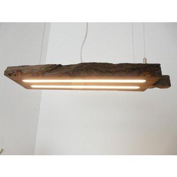 Lampe LED suspension bois poutres anciennes ~ 61 cm