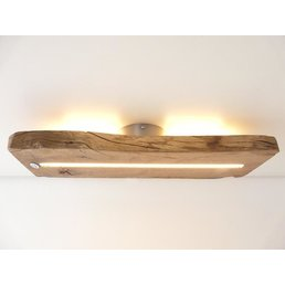 Antique wood ceiling lamp with indirect lighting ~ 52 cm - Copy