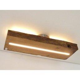 Lampe LED plafonnier bois poutres antiques ~ 51 cm