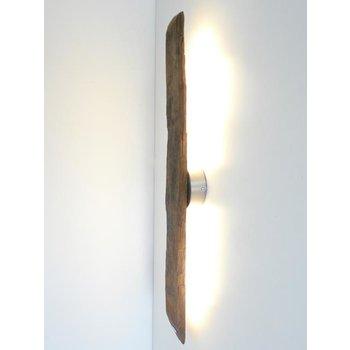 Applique LED en bois antique ~ 82 cm