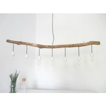 Driftwood lamp driftwood lamp with porcelain sockets ~ 140 cm