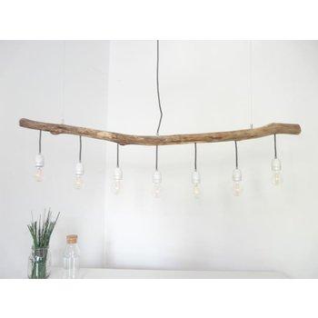 Lampe en bois flotté Lampe en bois flotté avec douilles en porcelaine ~ 140 cm