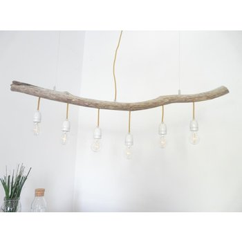 Driftwood lamp Driftwood lamp with porcelain sockets ~ 124 cm