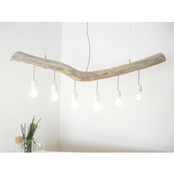 Hanging lamp driftwood dining table lamp 6 flg. ~ 120 cm