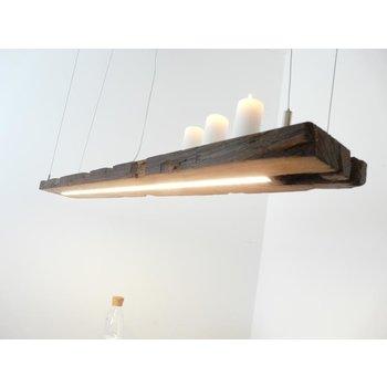 Lampe à LED lampe suspendue poutres en bois antique ~ 134 cm