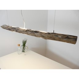 Lampe suspendue LED en bois flotté ~ 144 cm