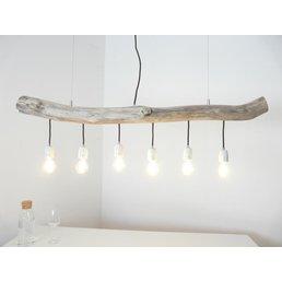 Hängeleuchte Treibholz Esstischlampe 6 flg. ~ 121 cm