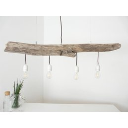 Hanging lamp driftwood dining table lamp 4 flg. ~ 110 cm