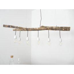 Lampe suspendue lampe de table à manger en bois flotté 6 flg. ~ 118 cm