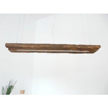 Lampe LED lampe suspendue poutres en bois antique ~ 100 cm