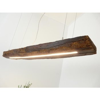 Led pendant lamp made of antique beams ~ 124 cm